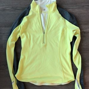 lululemon reversible 1/4 zip running top, SZ 6